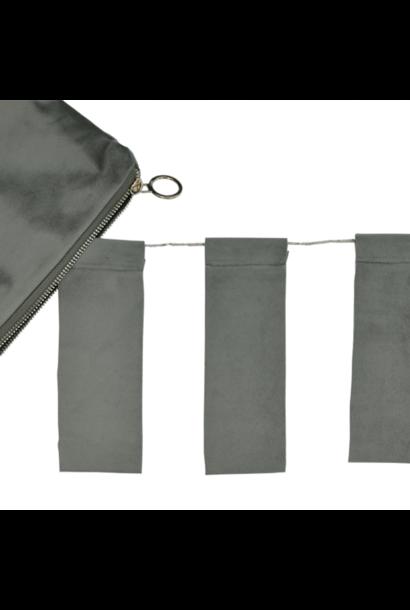 Olive Velvet Tassel & Velvet purse