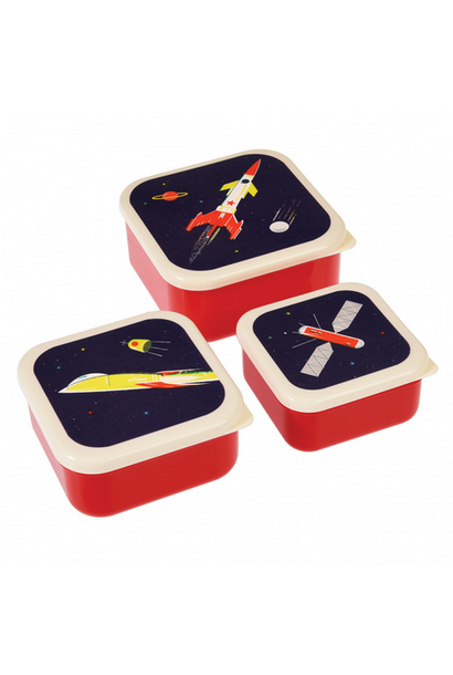 Snack Boxes Space Age - Set of 3