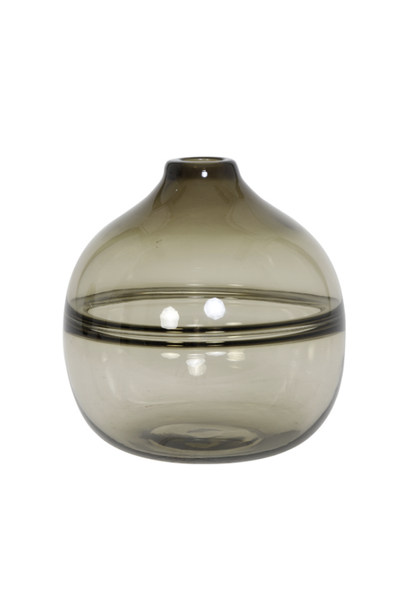 Vase Glass- Brown