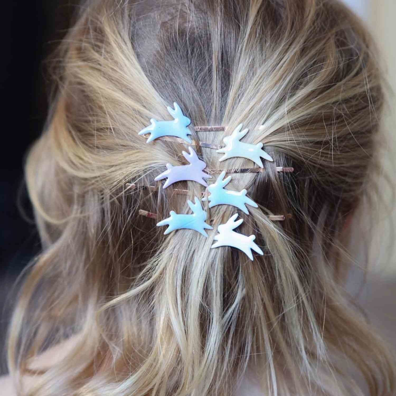 Haarpinnen Konijn Pastel-2