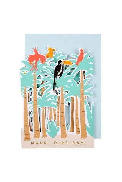 Wenskaart Tropische Vogels