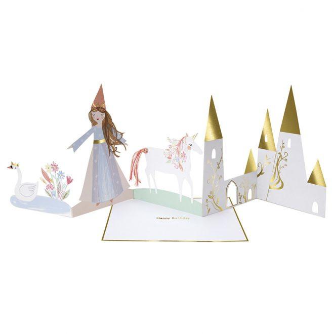 Pop Up Wenskaart  Prinses - Happy Birthday-2