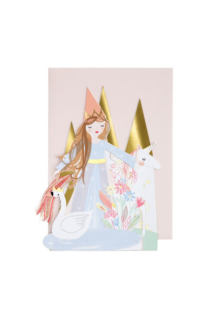 Pop Up Wenskaart  Prinses - Happy Birthday