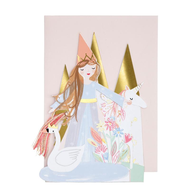 Pop Up Wenskaart  Prinses - Happy Birthday-1
