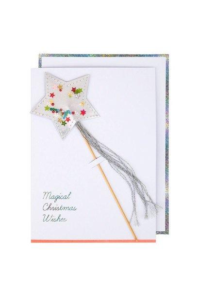 Wenskaart 'Star Shaker Wand Card'