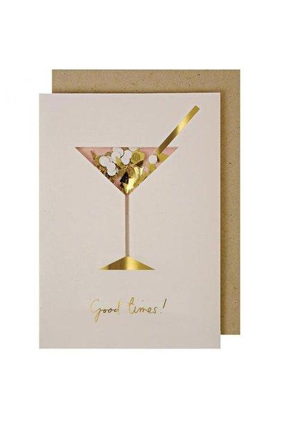 Wenskaart - Cocktail Confetti