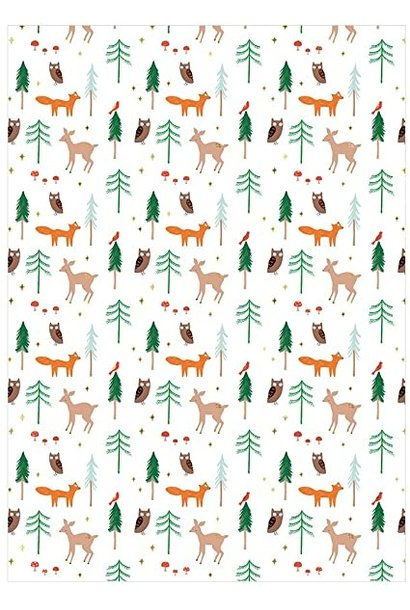 Gift Wrap Forest Animals