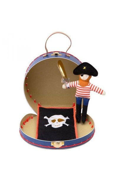 Suitcase With Mini Pirate Doll