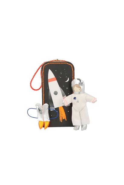 Suitcase With Mini Astronaut Doll