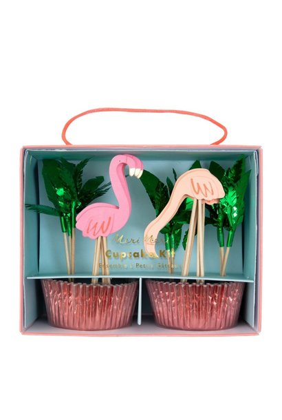 Cupcake Set Flamingo