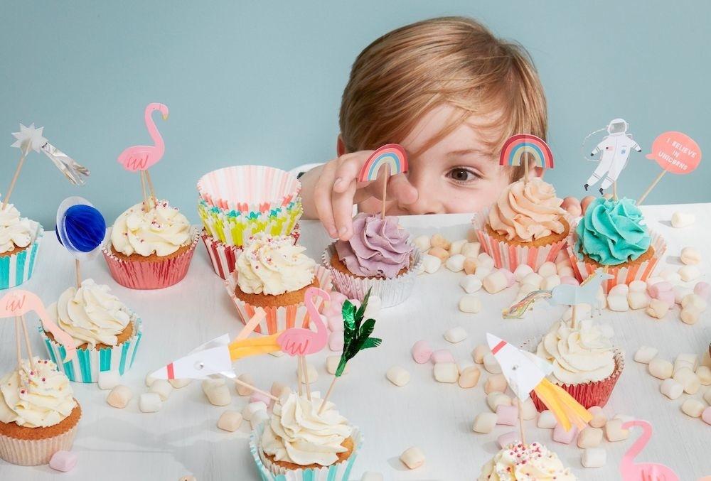 Cupcake Set Flamingo-4