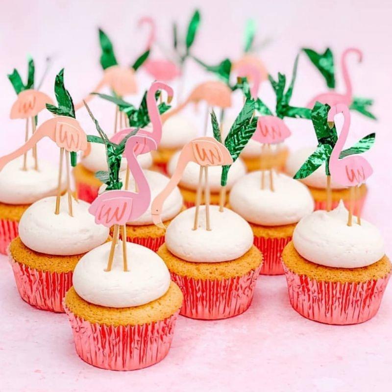 Cupcake Set Flamingo-3