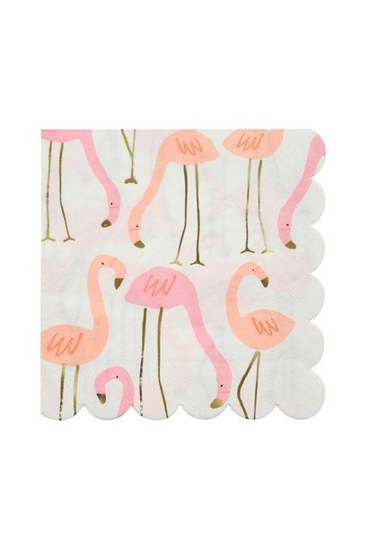 Flamingo Servetten - Large