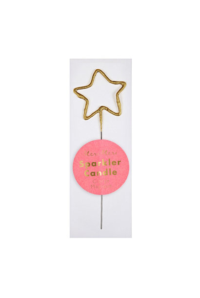 Sparkler Candle Gold Star