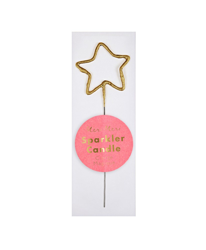Gouden Glitter Kaars Ster-1