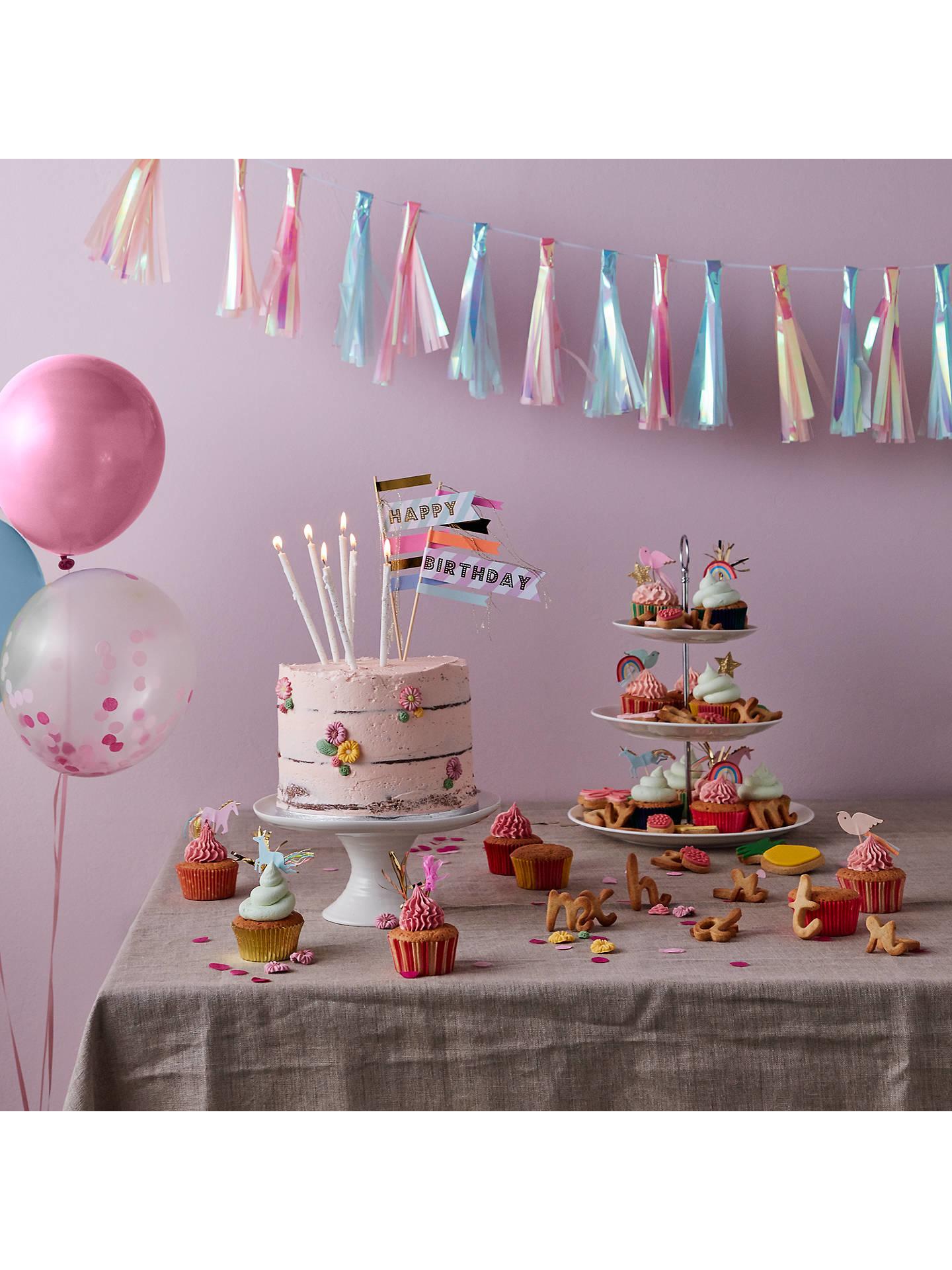 Verjaardagskaarsen Glitter Goud-4