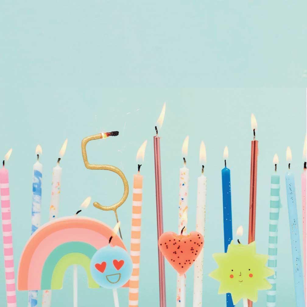 Verjaardagskaars Regenboog-2