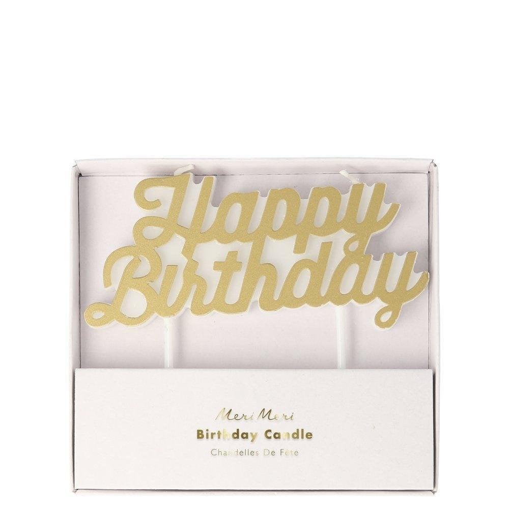 Verjaardagskaars Happy Birthday-1