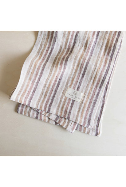 Linen Napkin - Striped Caramel