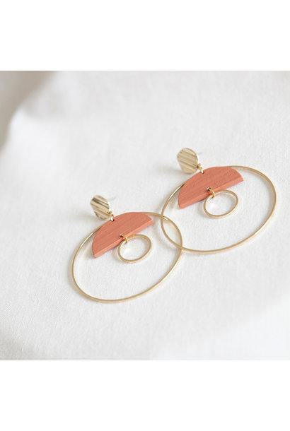 Oorbellen Koraal - Hope Together 08