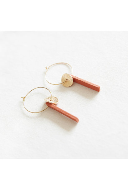 Oorbellen Koraal - Hope Together 01