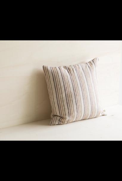 Brasilia Cushion Caramel Stripe - Zonder Vulling