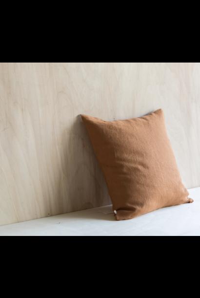 Linen Cushion Caramel
