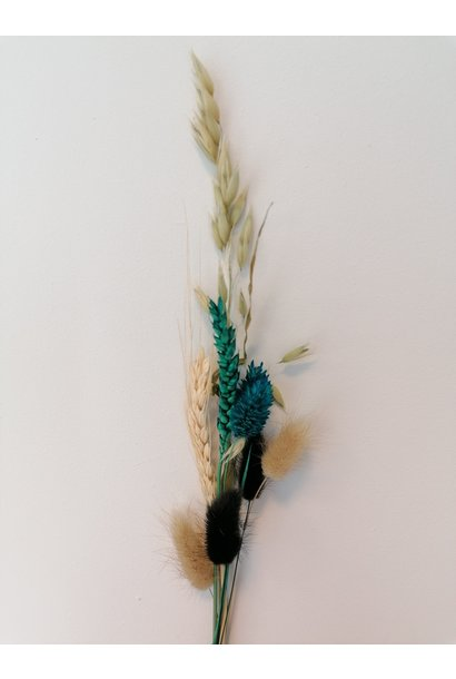 Mini Dried Flower Bouquet turquoise