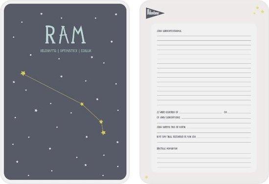 Posterkaart Geboorte Ram-2
