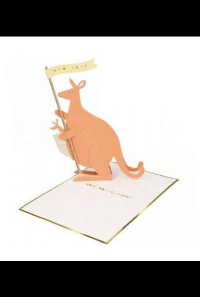 Baby Kangaroo Card - Stand Up