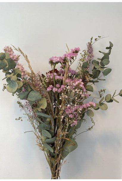 Droogboeket Eucalyptus roze