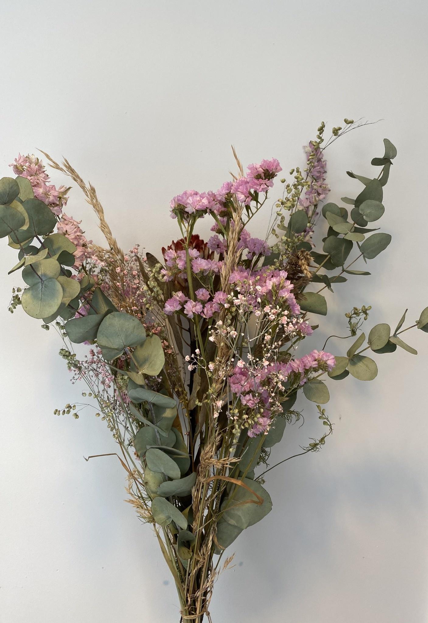 Droogboeket Eucalyptus roze-1