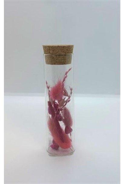Bloemengeluk In Flesje Roze - Mini