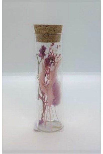 Bloemengeluk In Flesje Lila- Small