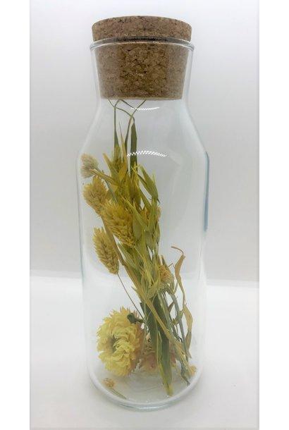 Bloemengeluk in Flesje Geel - Large
