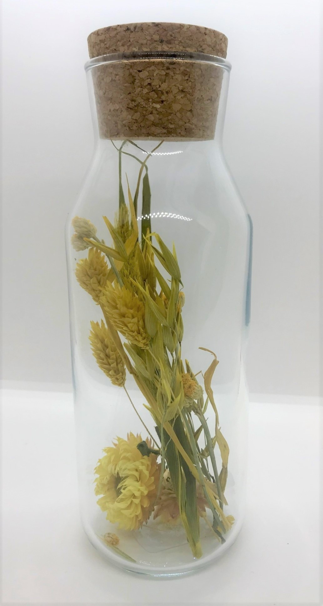 Bloemengeluk in Flesje Geel - Large-1