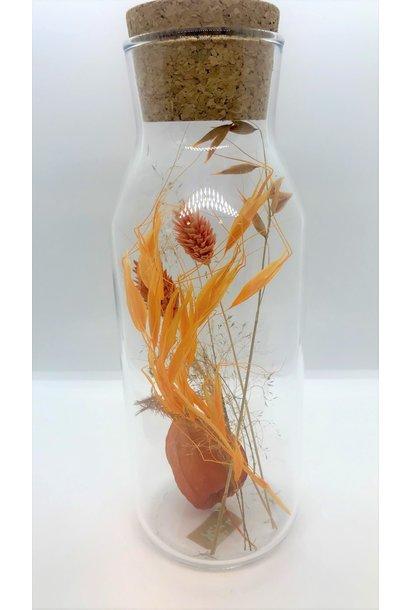 Bloemengeluk In Flesje Oranje - Large