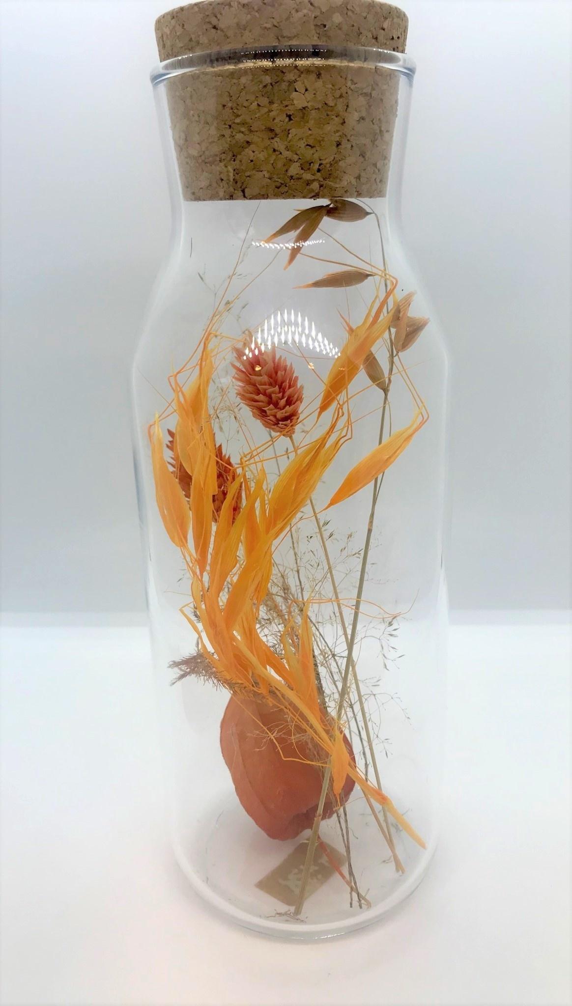 Bloemengeluk In Flesje Oranje - Large-1