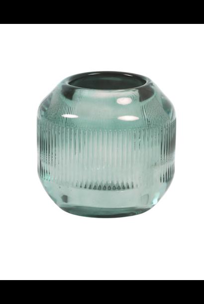 Theelichthouder Pepper Glass Grijsgroen S