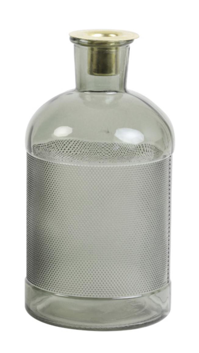 Fles/ Kandelaar Elisa Glas Olijfgroen-1
