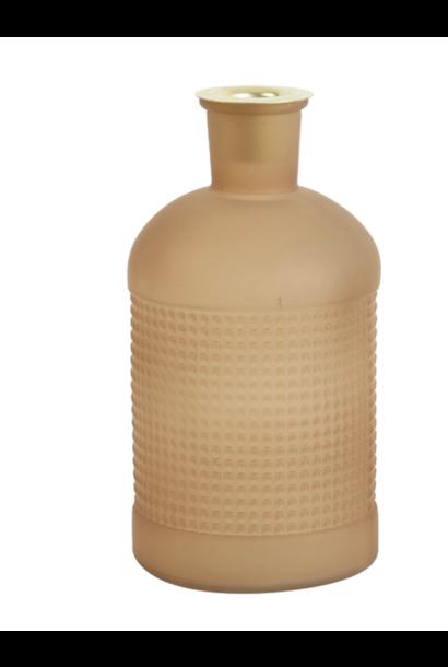 Fles/ Kandelaar Elisa Mat Glas Caramel
