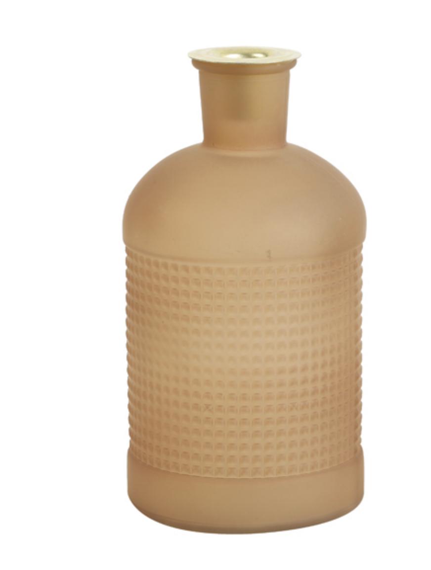 Fles/ Kandelaar Elisa Mat Glas Caramel-1