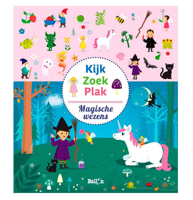 Kijk, zoek & plak - Stickerboek-1