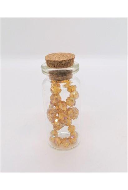 Armbandje in flesje Amber Grote Kralen