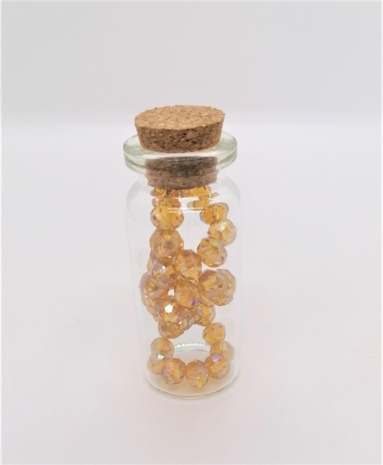 Armbandje in flesje Amber Grote Kralen-1