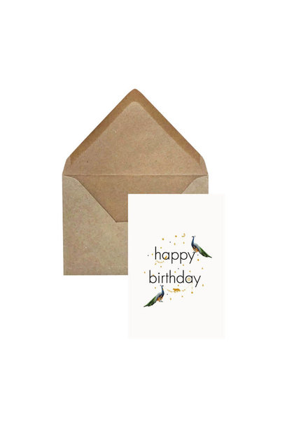 Wenskaart 'Happy Birthday'