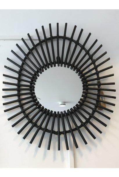 Rattan Mirror Black