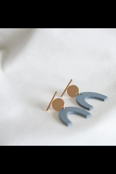Oorbellen Pastelblauw - Pastel Power 14