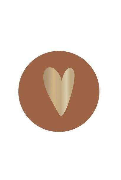 Stickervel hart - Brick