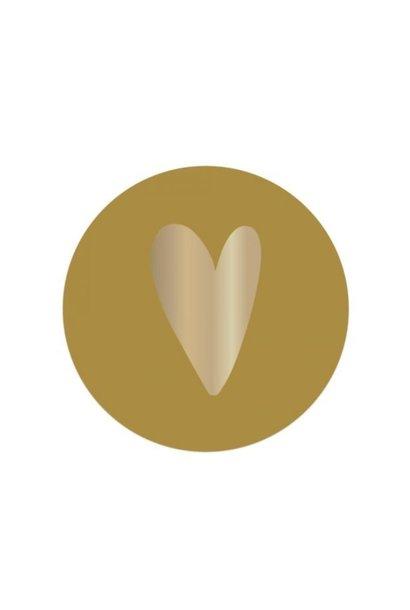 Stickervel hart - Geel
